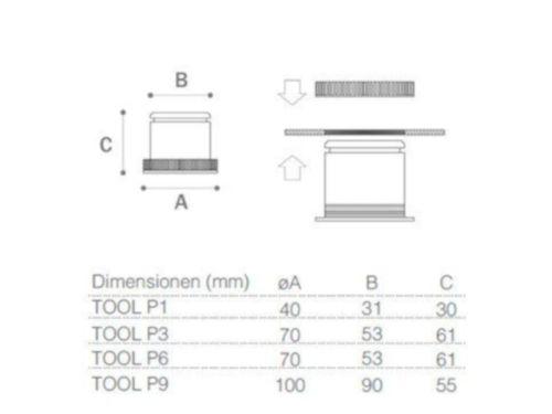 Einbaustrahler Tool-P | Maße