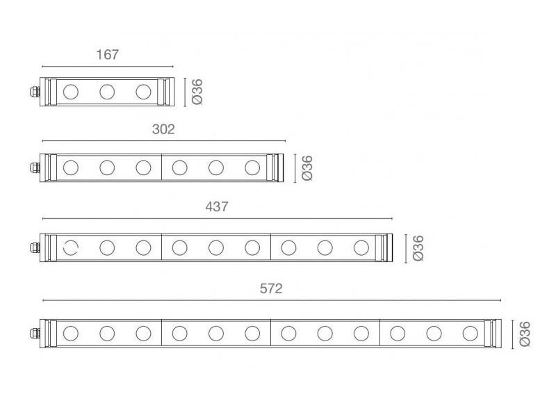 LED Rohrleuchte T-LED | Variationen