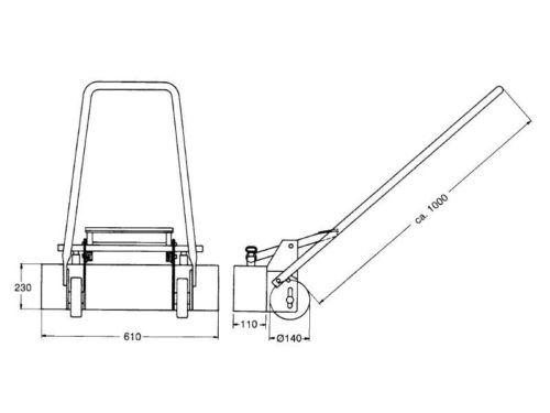 Magnet Kehrmaschine KM 600 V