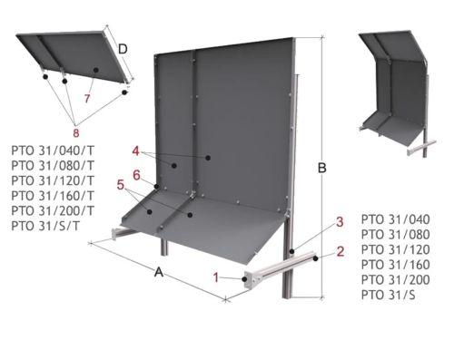 Maschinenrückwand PTO 31